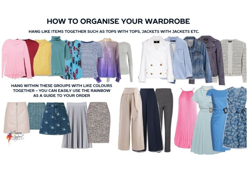 How to organise your wardrobe by garments and colour