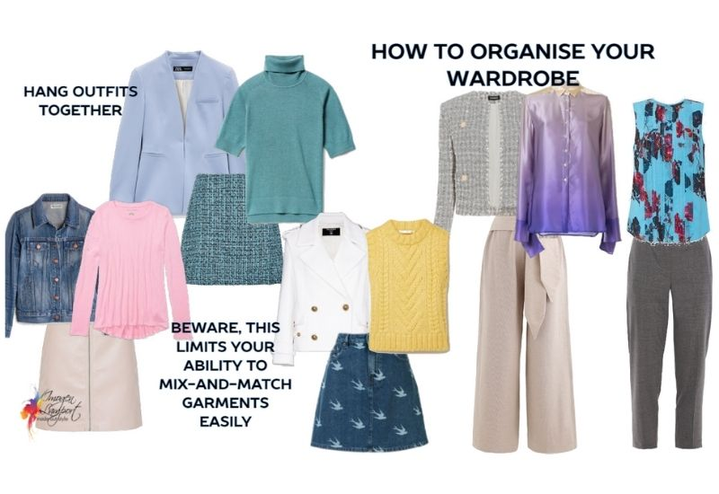 how to organise your wardrobe by outfit