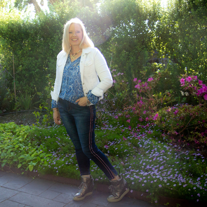 Expressing your personality through your clothing - adding a jacket and blouse to jeans makes it feel more dressed up