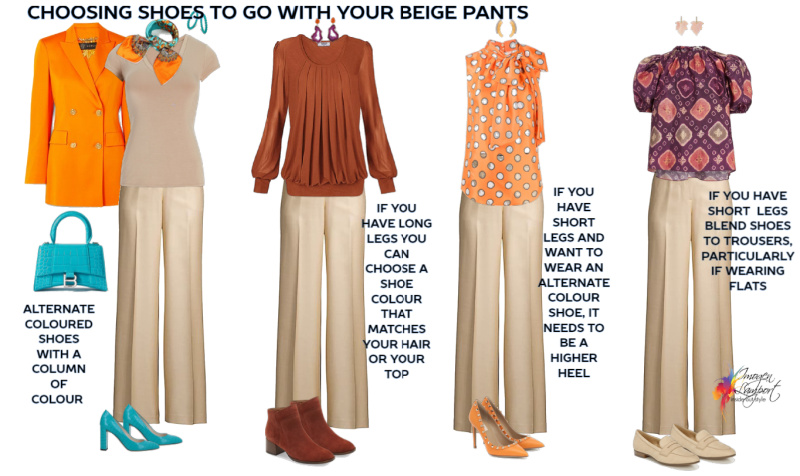 what shoes to wear with beige pants