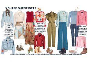 Flattering X body shape outfit ideas