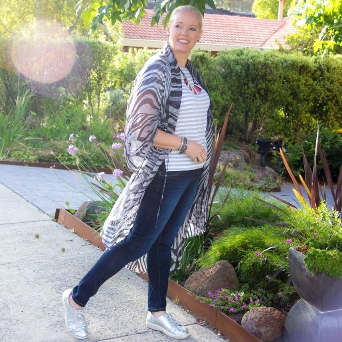 Mixing Prints and Patterns - animal print with stripes