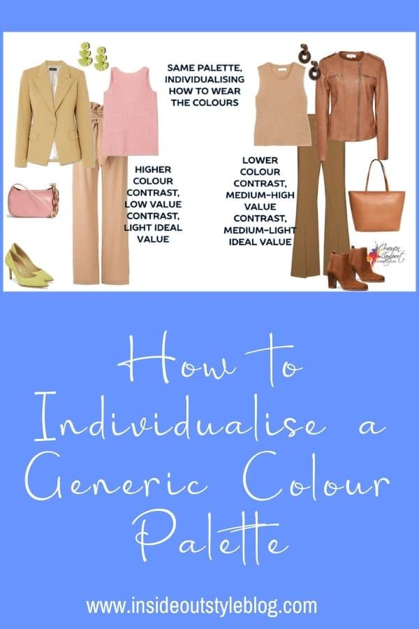 How to Individualise a Generic Colour Palette