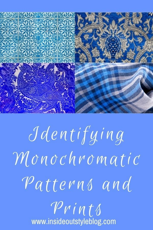 Identifying monochromatic prints and patterns and using them in your outfits