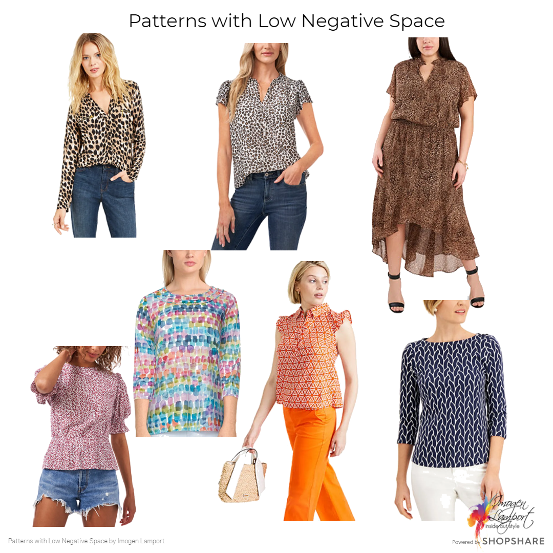 Negative space in patterns - low negative space in patterns which can be fabulous camouflage