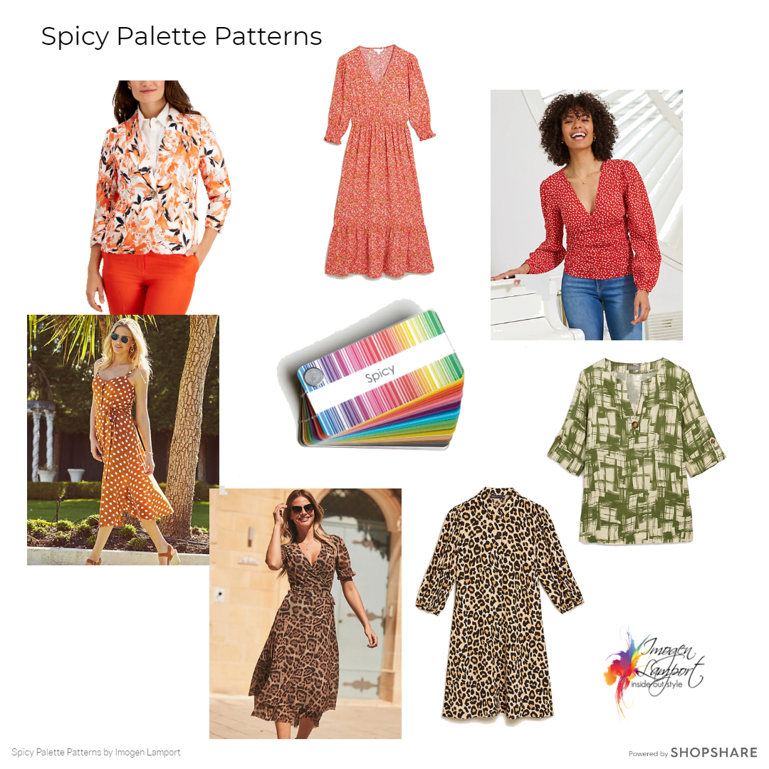 Patterns for the Spicy Palette - colour analysis