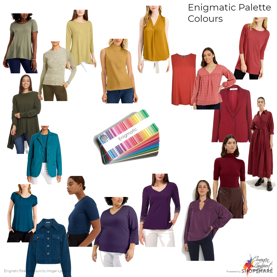 Enigmatic Palette Colours from the 18 Direction Absolute Colour System