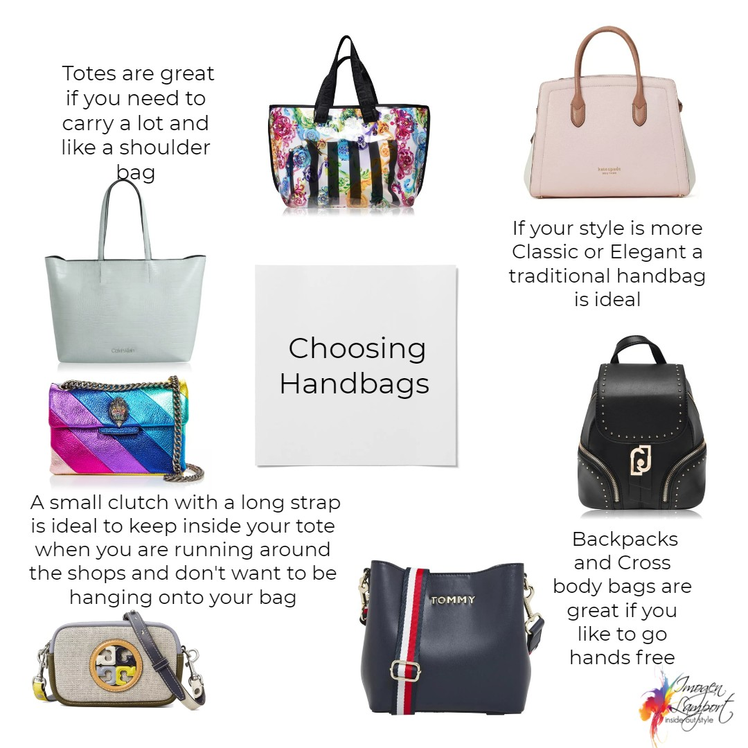 Choosing handbags for your body, colouring, personality and scale