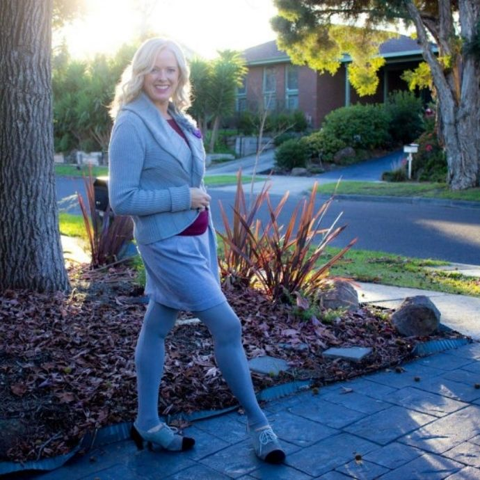 What colour tights to wear in winter - grey works well with a grey outfit