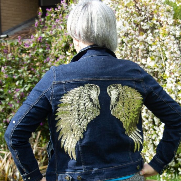 what do you love about your favourite clothes?  I love this angel wing denim jacket